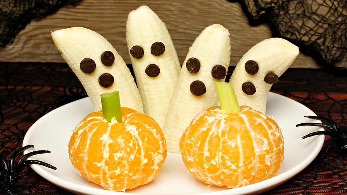 Banana Ghosts and Orange Halloween Treats