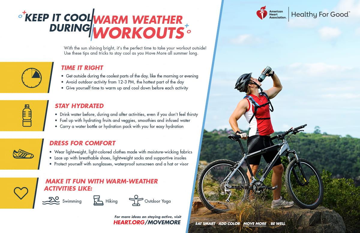 Manténgase fresco durante los entrenamiento en temporadas cálidas