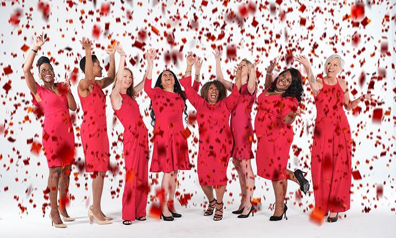 Go Red for Women Real Women celebrating