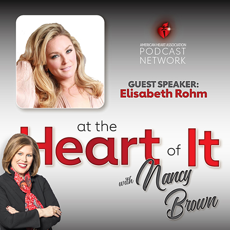 Photo Promo - At the Heart of It with Nancy Brown Guest Elisabeth Rohm