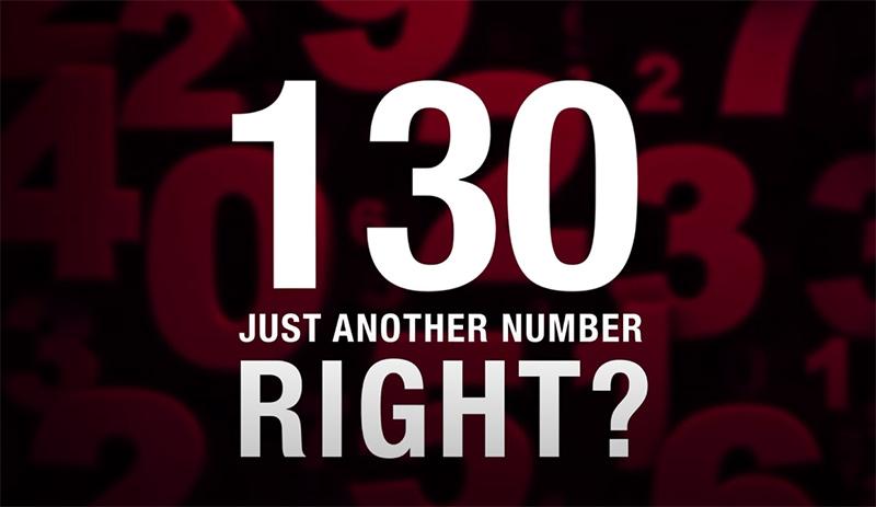 130 es solo un número más, ¿verdad?