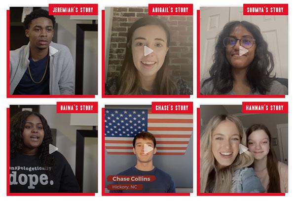capturas de pantalla del video en el que estudiantes de secundaria cuentan las historias de como dejaron el tabaco