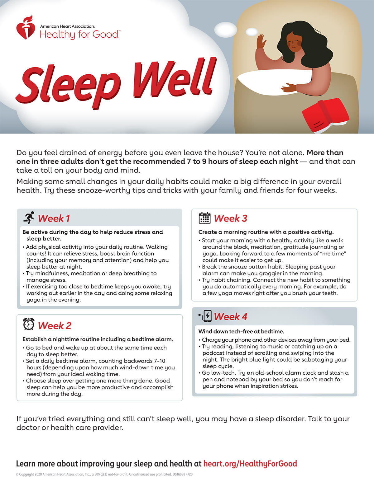Infografía Sleep Well