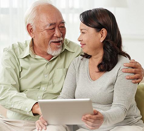 Senior couple using computer My A-Fib Experience