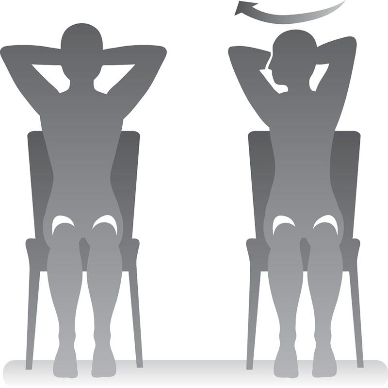 Ilustración: mujer rotando el torso