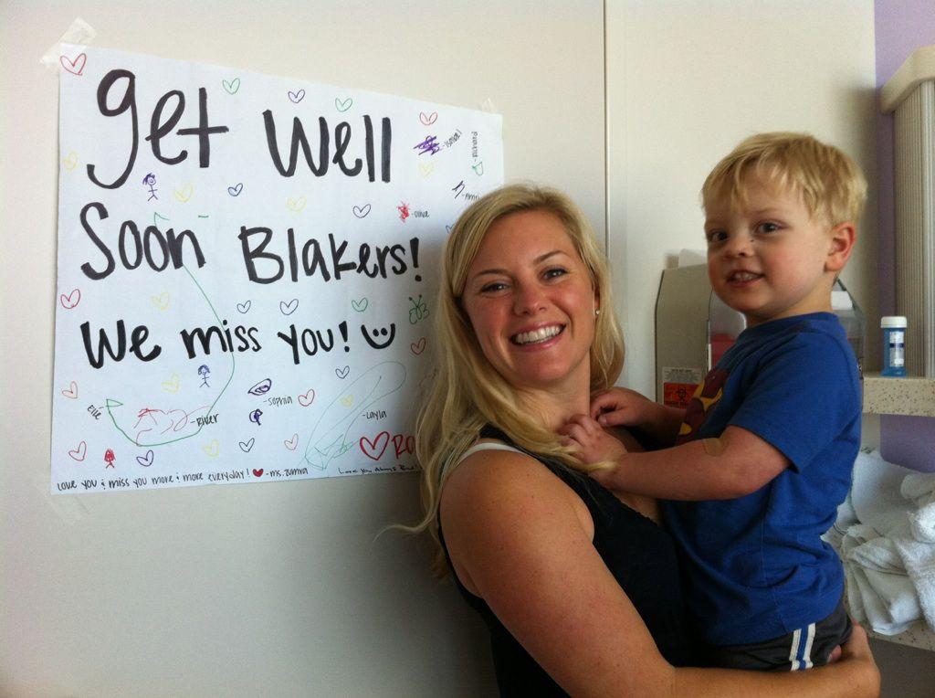 Blake Galligan y su mamá