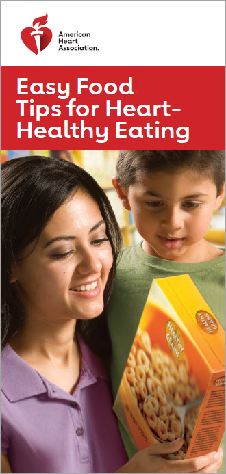 Easy Food Tips brochure cover