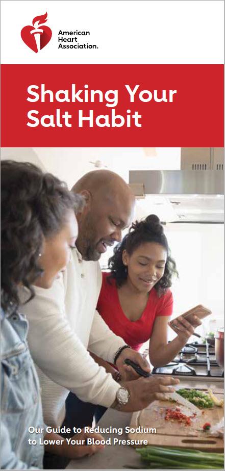 Portada del folleto Shaking Your Salt Habit (Acabar con su hábito de consumir sal)