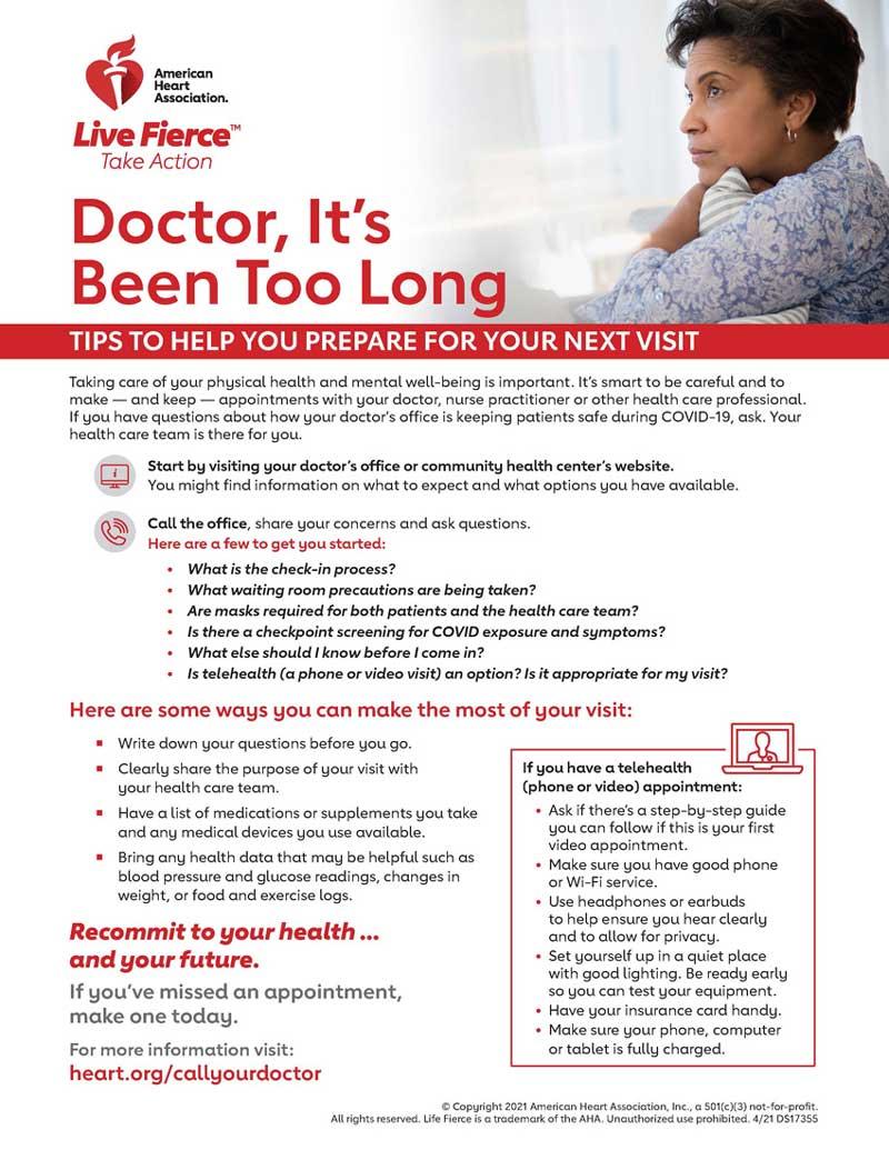 Infografía de consejos para su próxima cita con el médico