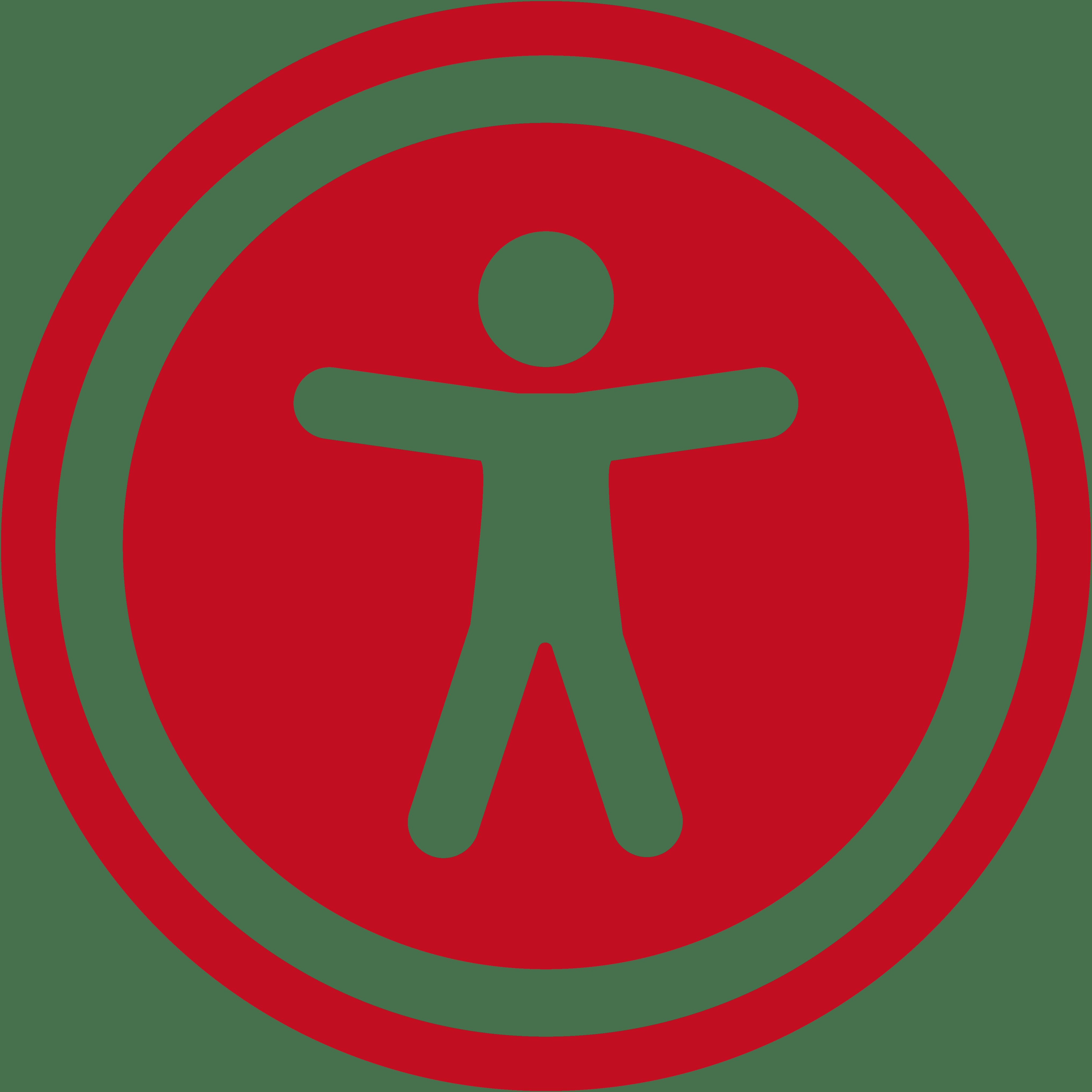 figura humana dentro de un círculo