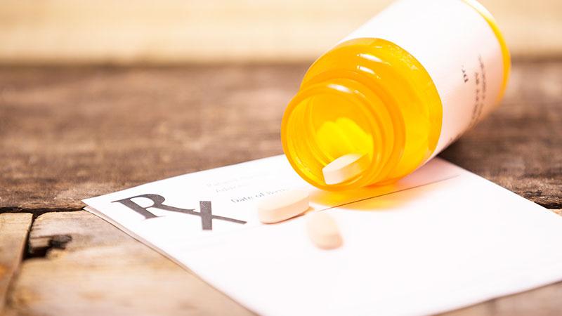 Frasco de píldoras de prescripción