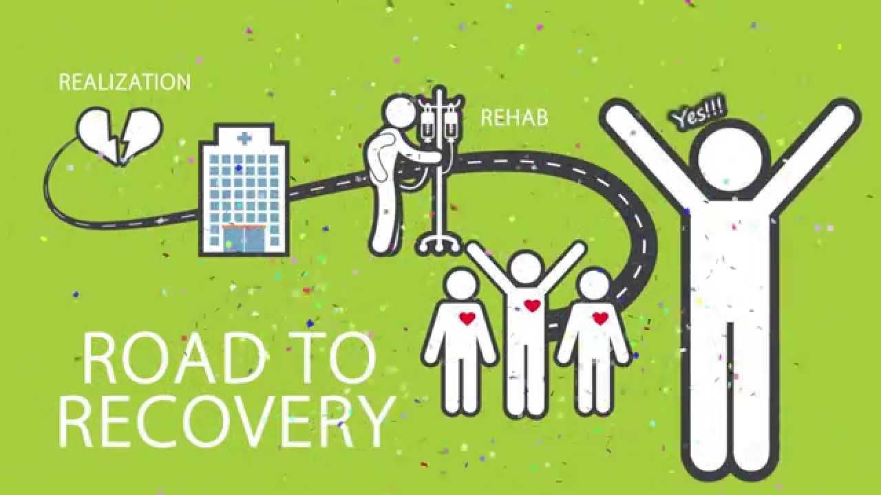 Captura de pantalla del video de Camino a la recuperación