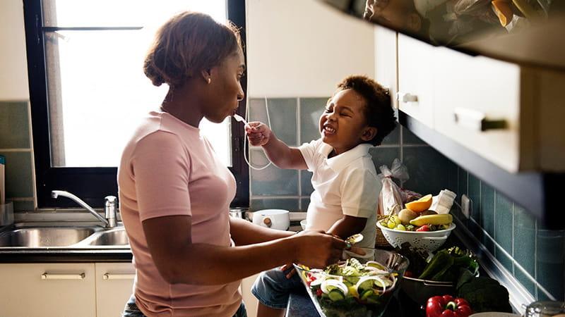 Recomendaciones de dieta para niños sanos
