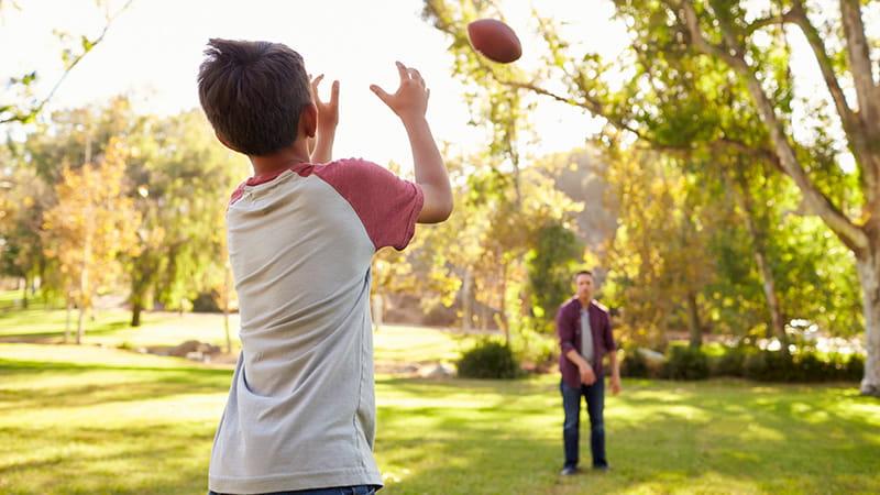 Haz ejercicio con tu papá