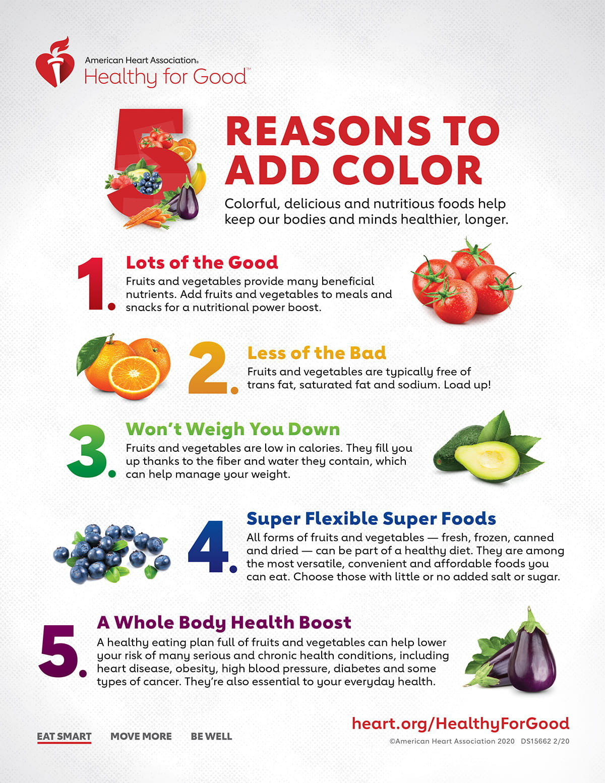 5 Reasons to Add Color infographic