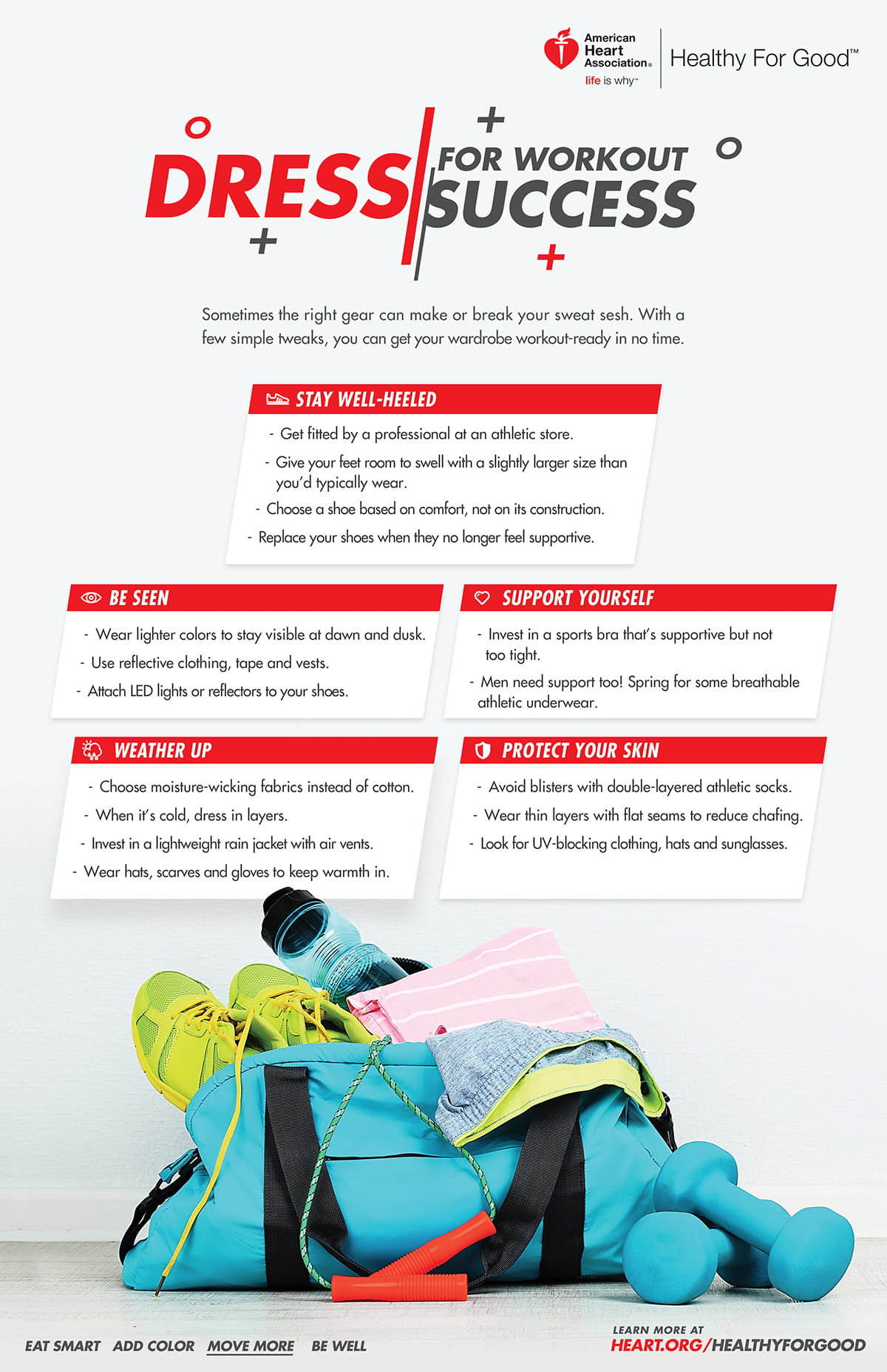 Dress for workout success infographic