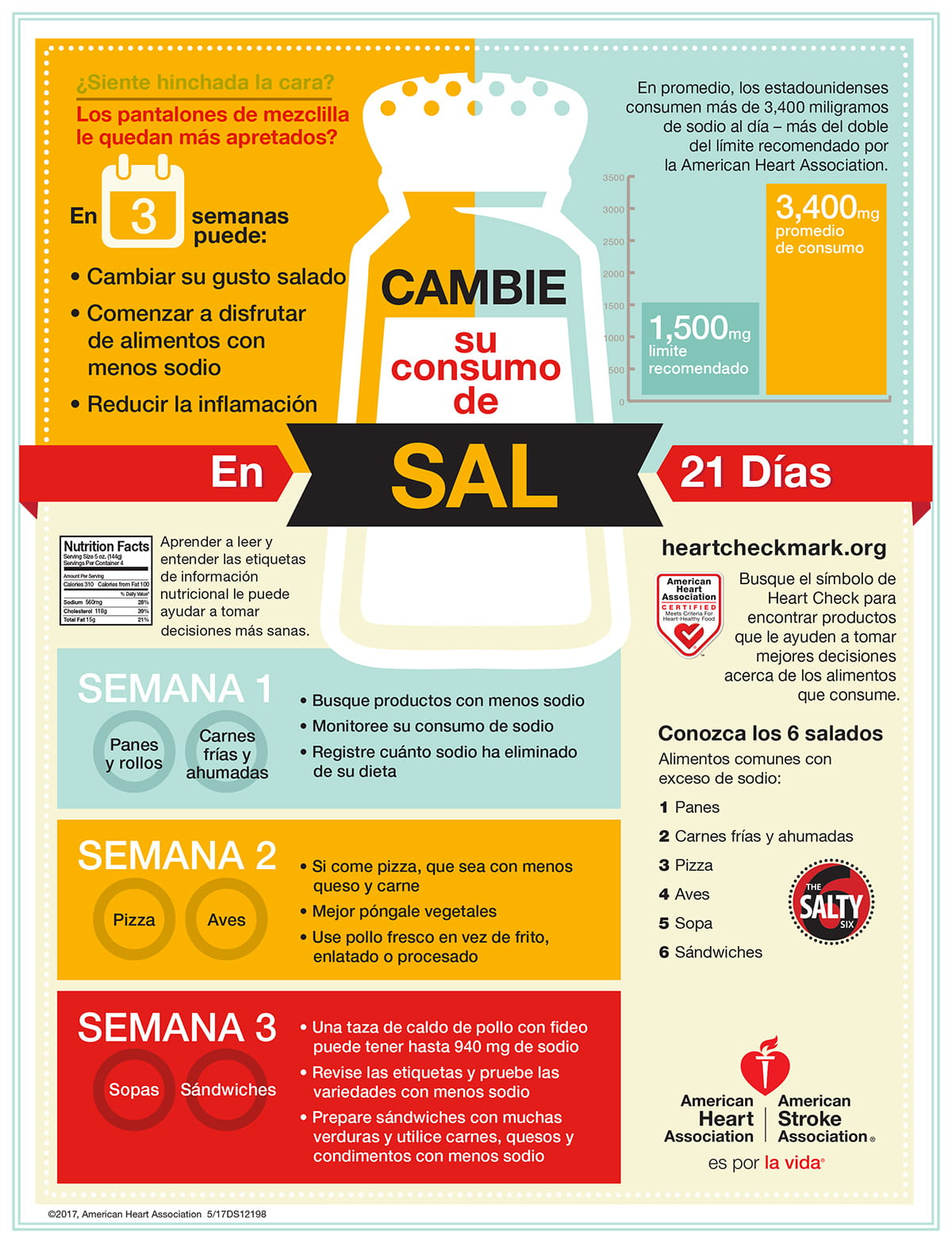 Sodium Swap infographic Spanish