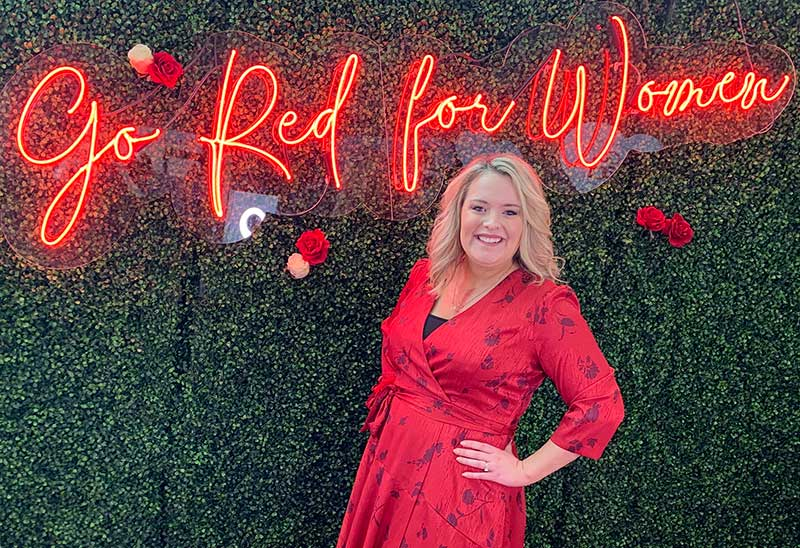 Meredith O'Neal, mujer real de Go Red For Women