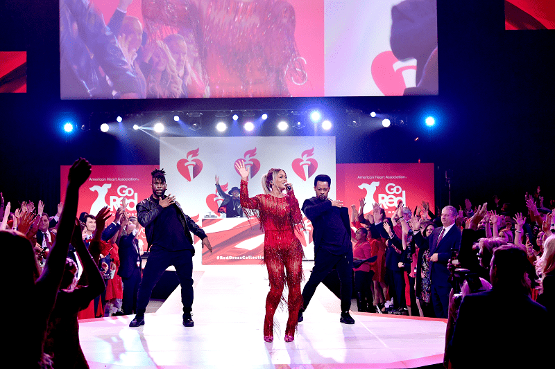 Eve performing at Red Dress Collection
