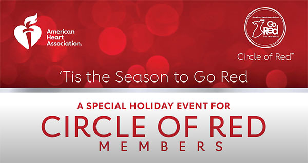 Go Red for Women Circle of Friends holiday event