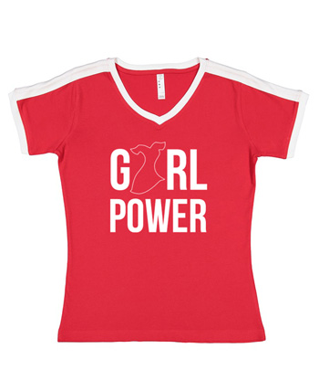 Camiseta Girl Power Go Red For Women