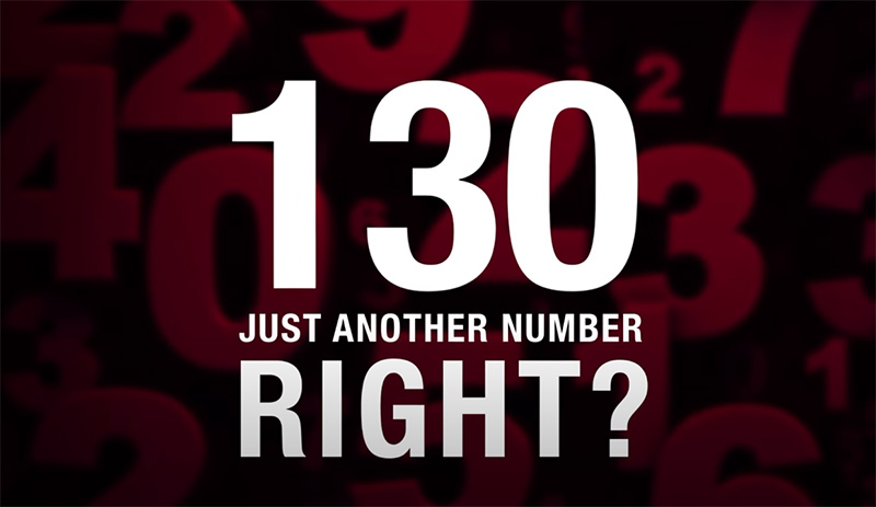 130 is just another number, right?