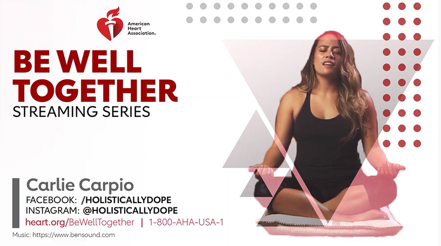 Video de meditación de Carlie Carpio