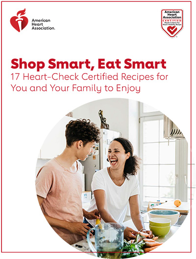 Shop Smart, Eat Smart. Heart-Check Certified Recipe Cook Booklet cover