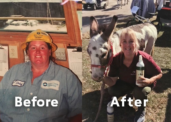 Debby before and after