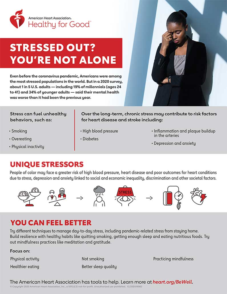 stressed out infographic