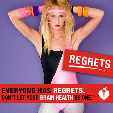 Todo el mundo tiene remordimientos. No permita que su salud cerebral sea uno de ellos (imagen con pierna)