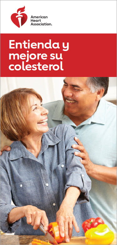 Understanding and Improving Cholesterol bilingual brochure cover