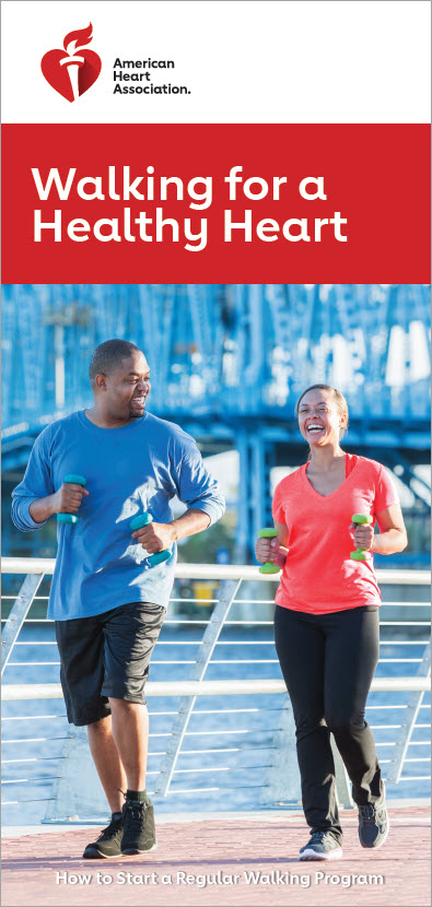 Walking for healthy heart brochure cover
