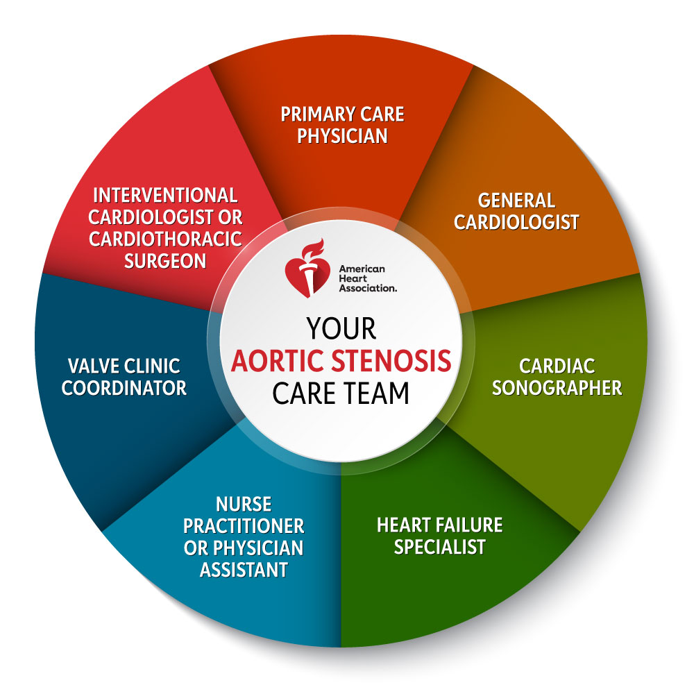 Color wheel showing aortic stenosis care team