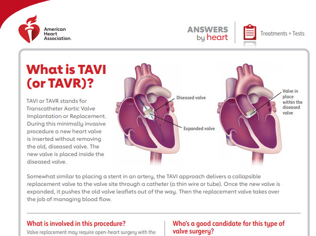 What is TAVR