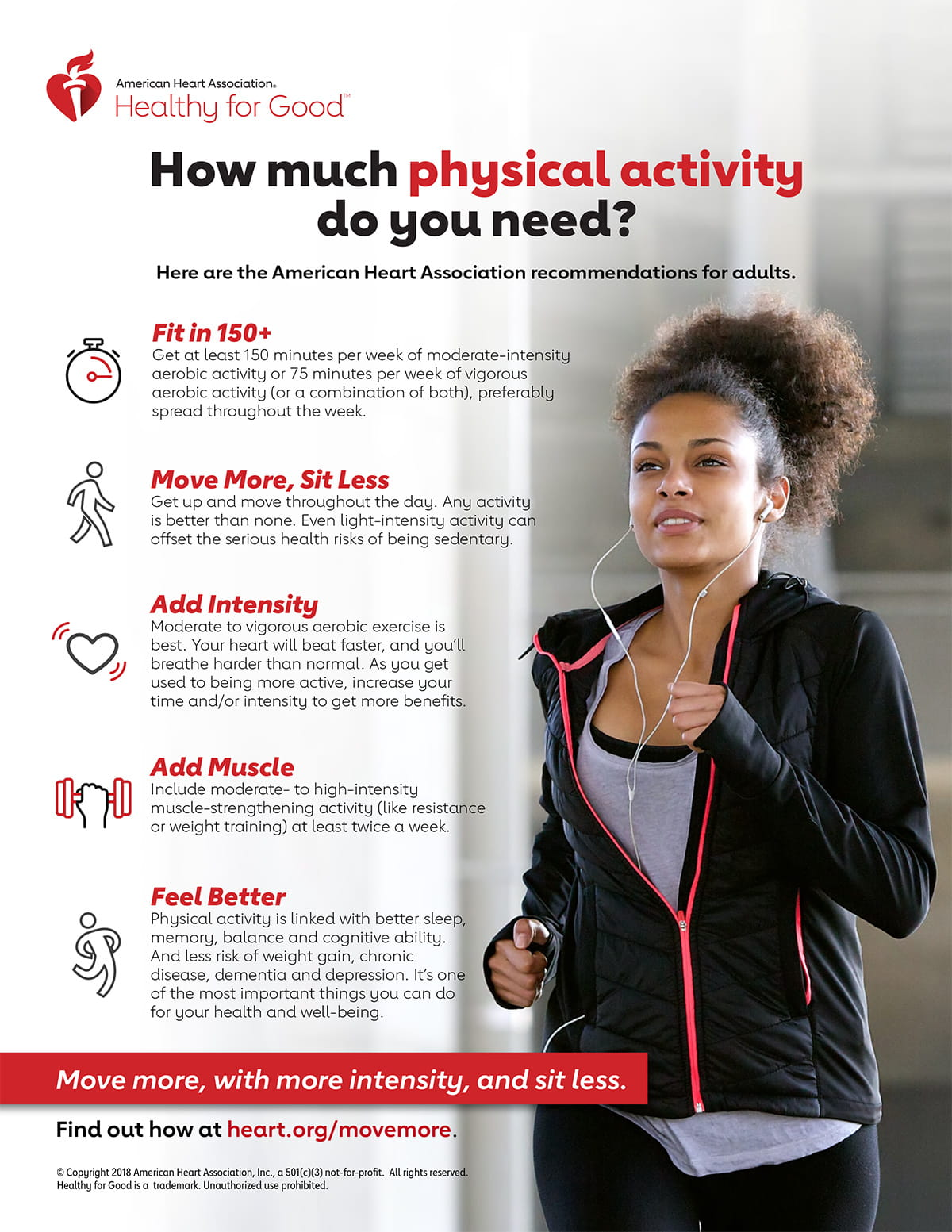 AHA Physical Activity Recommendations for Adults