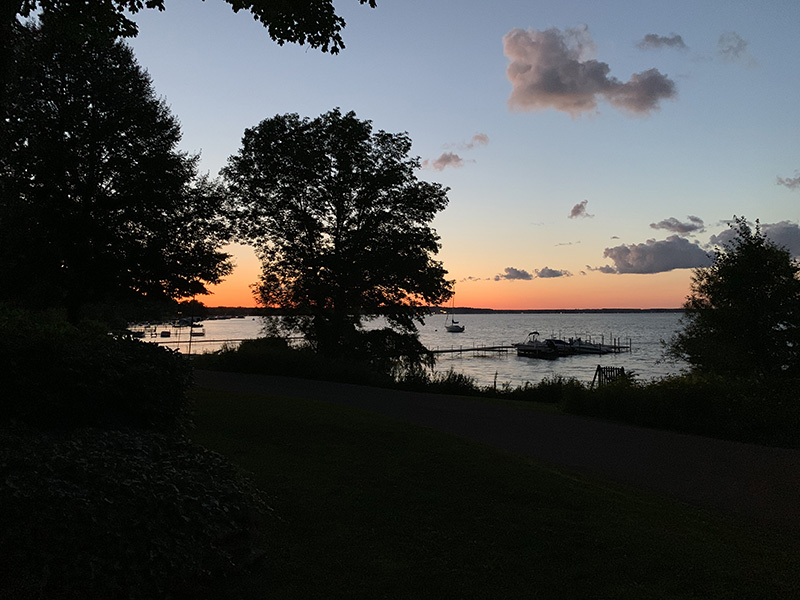 The view of Chautauqua Lake that Bonnie envisioned to relax and speed her recovery. (Photo courtesy of Bonnie Gwin)