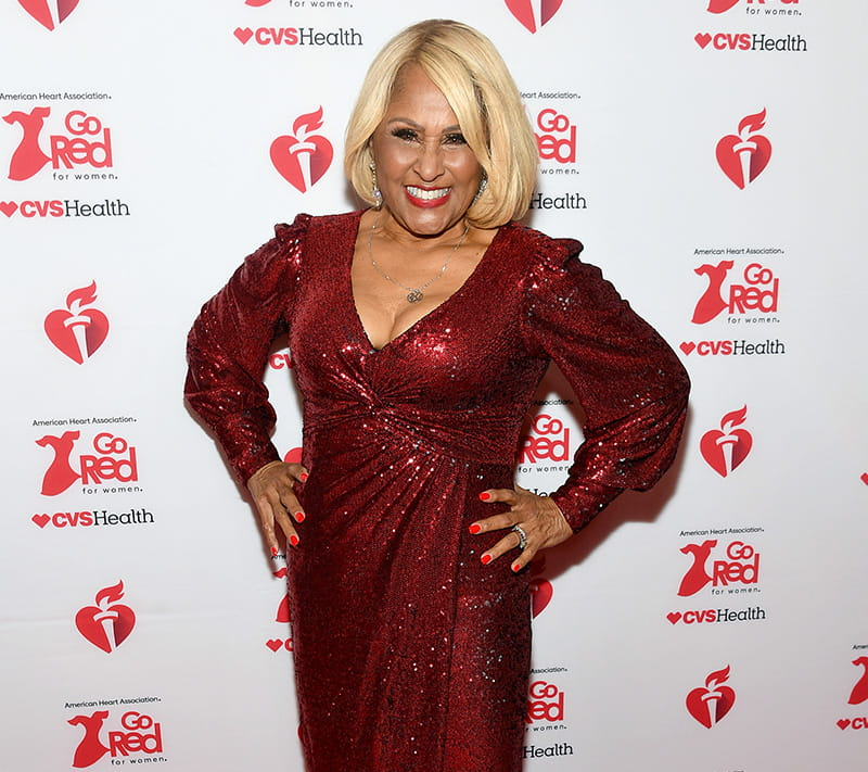 Darlene on the red carpet at the Red Dress Collection. (Photo by Mike Coppola/Getty Images for American Heart Association)