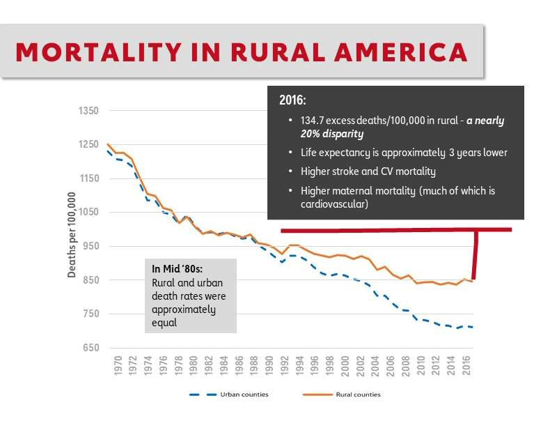 Mortality Rate in Rural America chart